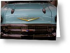 1957 Chevy Bel Air Greeting Card by David Patterson