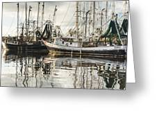 Bayou LaBatre' AL Shrimp Boat Reflections Greeting Card by Jay Blackburn