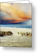 Beach View Greeting Card by Les Cunliffe