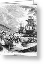 Boston: Evacuation, 1776 Greeting Card by Granger