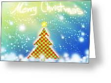 Chess Style Christmas Tree Greeting Card by Atiketta Sangasaeng