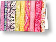 Fabric Background Greeting Card by Tom Gowanlock