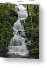 Forest Waterfall Greeting Card by Stephen  Vecchiotti
