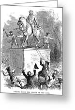George IIi Statue, 1776 Greeting Card by Granger