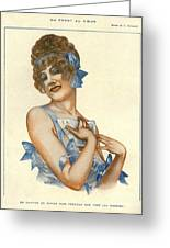 La Vie Parisienne 1916 1910s France Greeting Card by The Advertising Archives