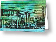 Long Center Greeting Card by William Cauthern