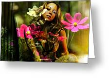 Mariah Carey Greeting Card by Marvin Blaine