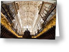 Mezquita Cathedral Interior In Cordoba Greeting Card by Artur Bogacki