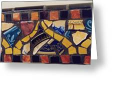 Mosaic Table Top Greeting Card by Charles Lucas
