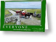 Old Irish Saying's Greeting Card by Joe Cashin