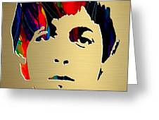 Paul Mccartney Gold Series Greeting Card by Marvin Blaine