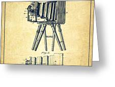 Photographic Camera Patent Drawing from 1885 Greeting Card by Aged Pixel