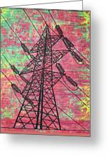 Power Greeting Card by William Cauthern