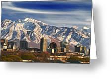 Salt Lake City Skyline Greeting Card by Utah Images