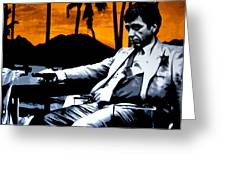 Scarface Greeting Card by Luis Ludzska