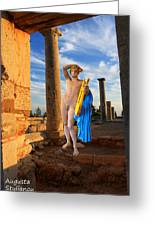 Temple Of Apollo Greeting Card by Augusta Stylianou