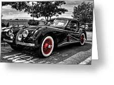 '53 Jag 001 Greeting Card by Lance Vaughn