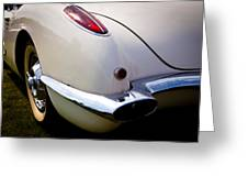 1959 Chevy Corvette Greeting Card by David Patterson