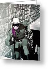 Clayton Moore In The Lone Ranger  Greeting Card by Silver Screen