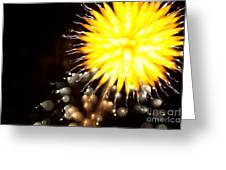 Fireworks Art Greeting Card by Benjamin Simeneta