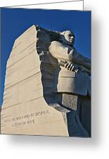 Martin Luther King Jr. Memorial Greeting Card by Allen Beatty