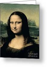 Mona Lisa Greeting Card by Leonardo Da Vinci