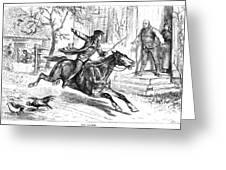 Paul Reveres Ride Greeting Card by Granger