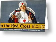 Red Cross Poster, 1917 Greeting Card by Granger