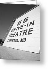 Route 66 Drive-in Theatre Greeting Card by Frank Romeo