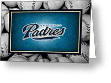 San Diego Padres Greeting Card by Joe Hamilton