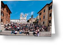Spanish Steps At Piazza Di Spagna Greeting Card by George Atsametakis