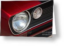67 Camaro Ss Headlight-8724 Greeting Card by Gary Gingrich Galleries