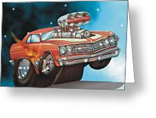 67 Chevelle Greeting Card by Christopher Fresquez