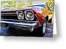 68 Chevelle  Color Greeting Card by Cheryl Young