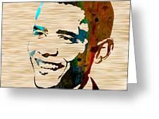 Barack Obama Greeting Card by Marvin Blaine