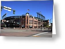 Coors Field - Colorado Rockies Greeting Card by Frank Romeo