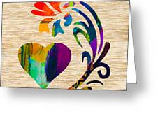 Heart And Flowers Greeting Card by Marvin Blaine