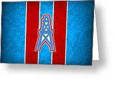 Houston Oilers Greeting Card by Joe Hamilton