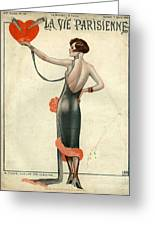 La Vie Parisienne  1925  1920s France Greeting Card by The Advertising Archives