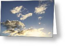 Sky Greeting Card by Les Cunliffe