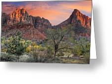 Zion National Park Greeting Card by Utah Images