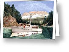 75 Foot Classic Bridgrdeck Yacht Greeting Card by Jack Pumphrey