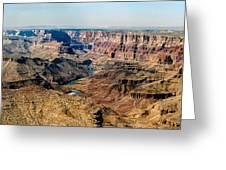 8-image Panorama Grand Canyon Desertview Greeting Card by Bob and Nadine Johnston