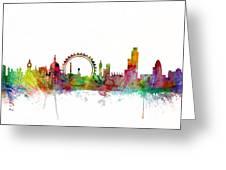 London England Skyline Greeting Card by Michael Tompsett