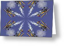 8 Planes Greeting Card by Jerry Fornarotto