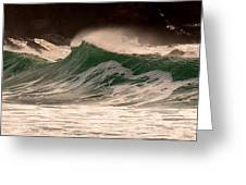 Waves Greeting Card by Barbara Walsh