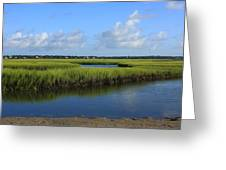 Wrightsville Beach Marsh Greeting Card by Michael Weeks