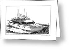 85 Foot Custom Nordlund Motoryacht Greeting Card by Jack Pumphrey