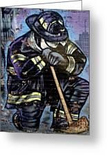 9-11 Hero Greeting Card by Ed Weidman