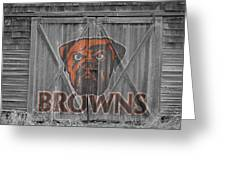 Cleveland Browns Greeting Card by Joe Hamilton